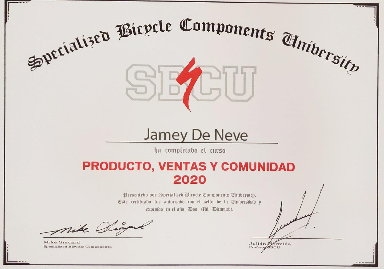 Specialized bicycle components university Jamey De Neve